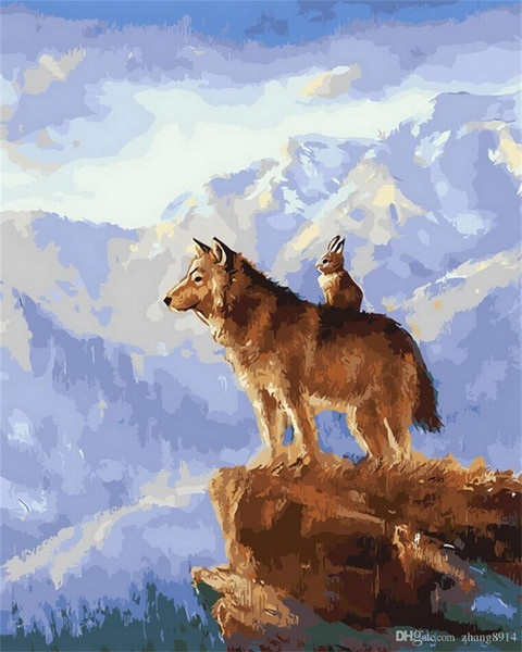 Картинки волка маслом для детей 004