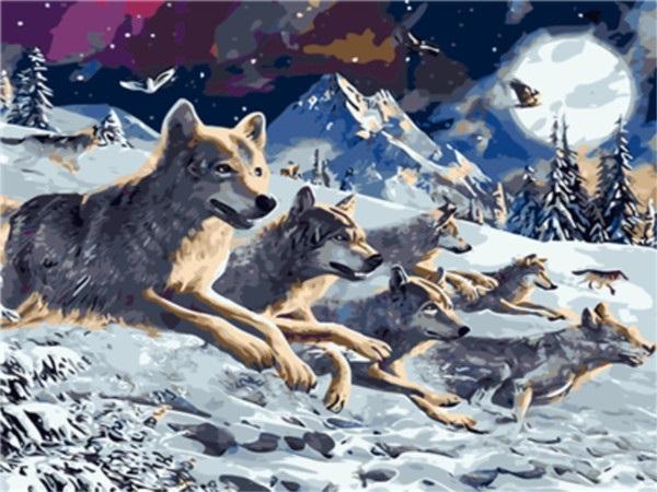 Картинки волка маслом для детей 006