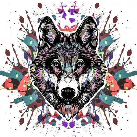 Картинки волка маслом для детей 008