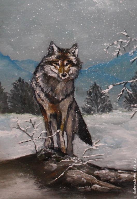 Картинки волка маслом для детей 009