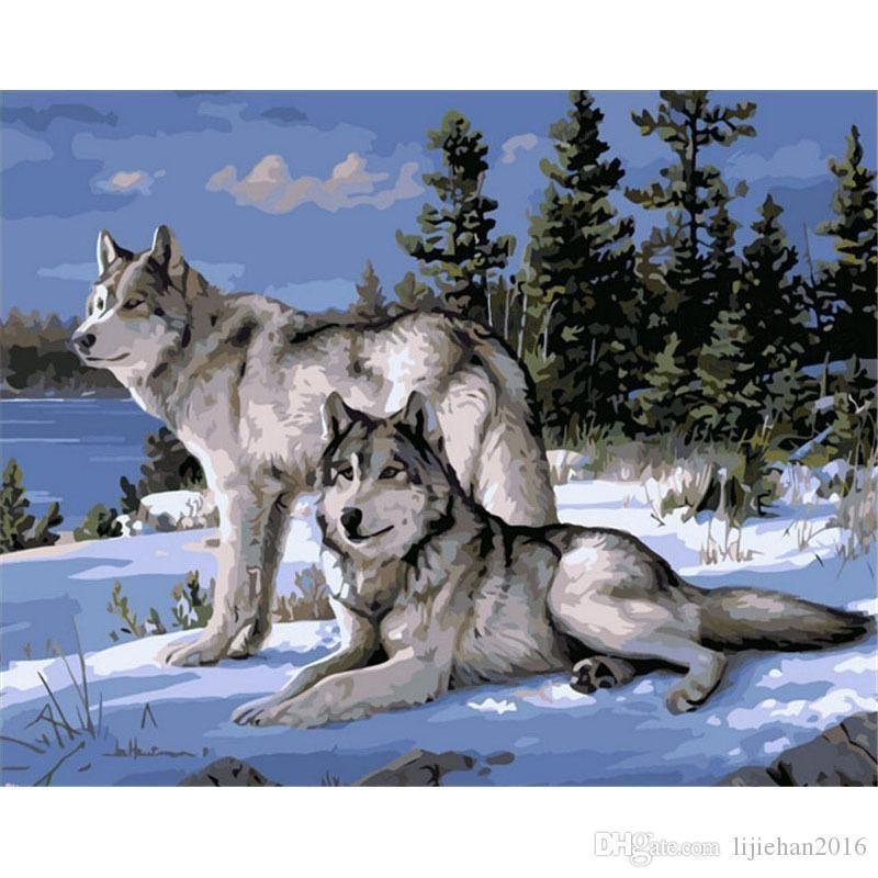 Картинки волка маслом для детей 011