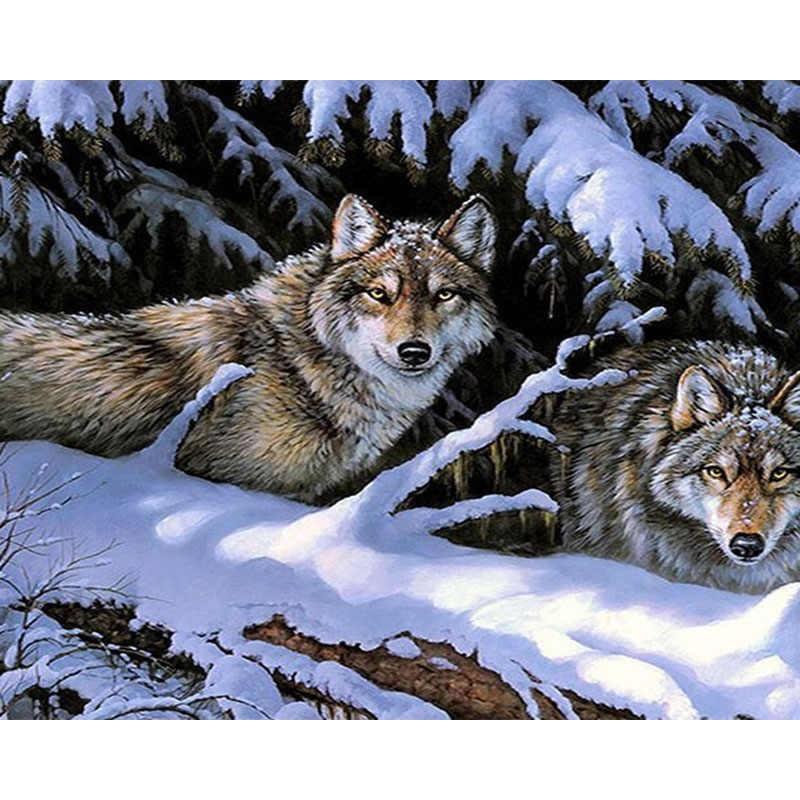 Картинки волка маслом для детей 014