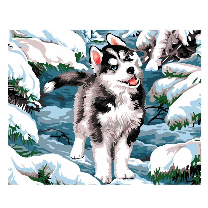 Картинки волка маслом для детей 015