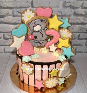 Картинки торт с пряниками для девочки 027