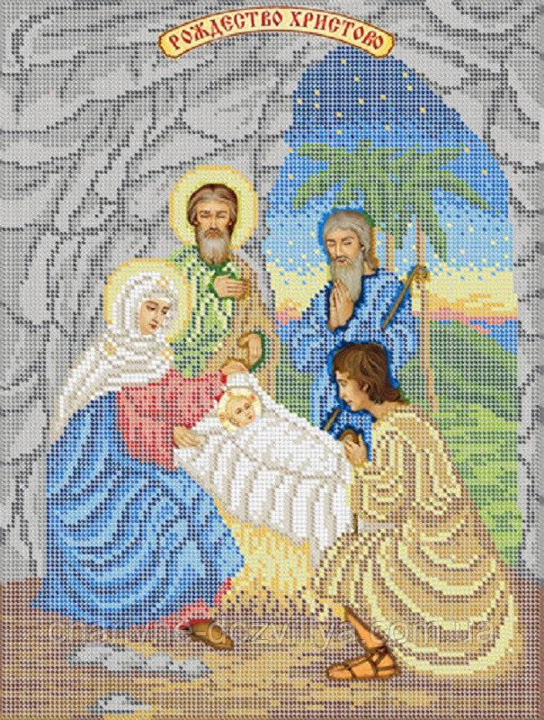 Красивая вышивка крестом на рождество христово 001