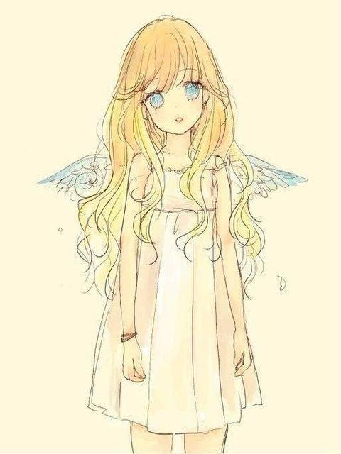 Красивые аниме рисунки в цвете 001