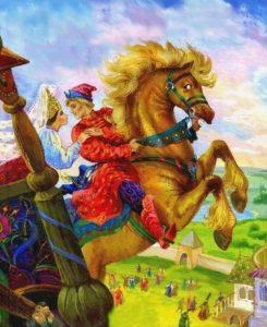 Красивые иллюстрации сказок с лошадьми 030
