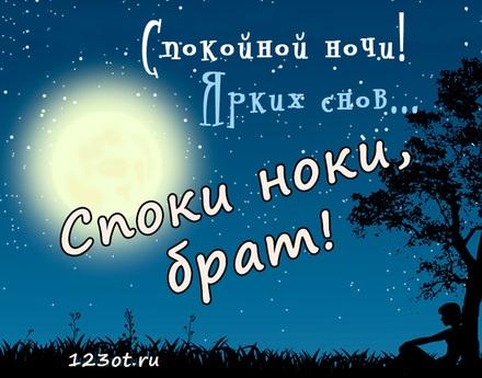 Красивые картинки спокойной ночи для брата 024
