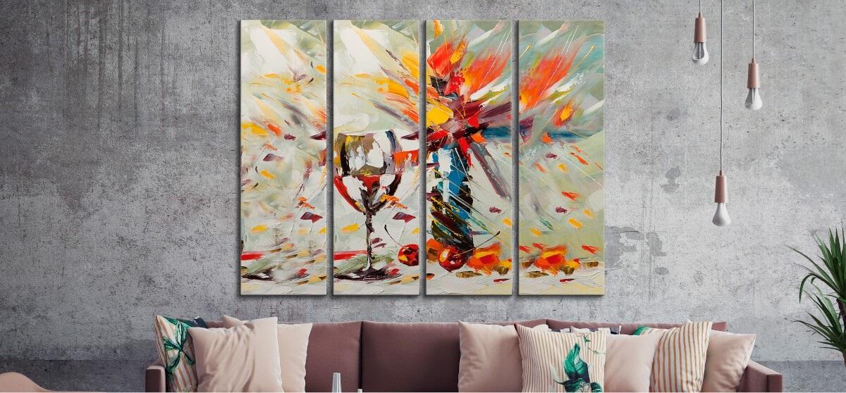Красивые картины акварелью на холсте 012