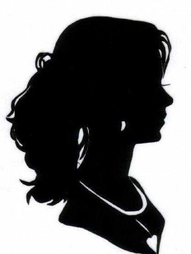Красивые силуэты лица красивой девушки 001