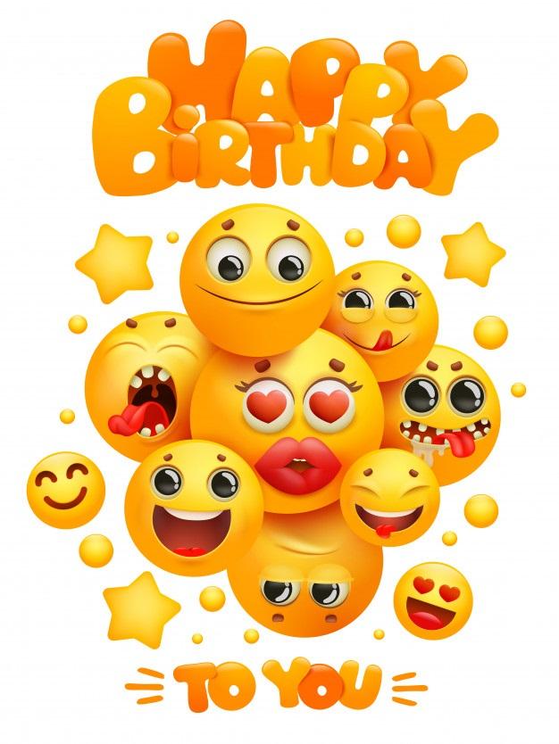 Красивые эмоджи поздравления с днем рождения 026