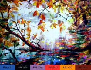 Красивый Арт осенние листья 029