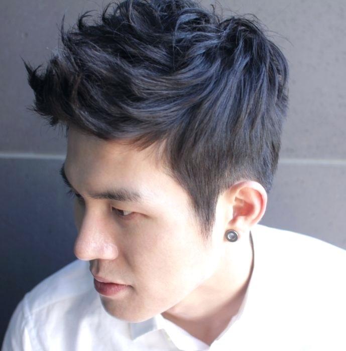 Крутые прические для азиатских мужчин 001