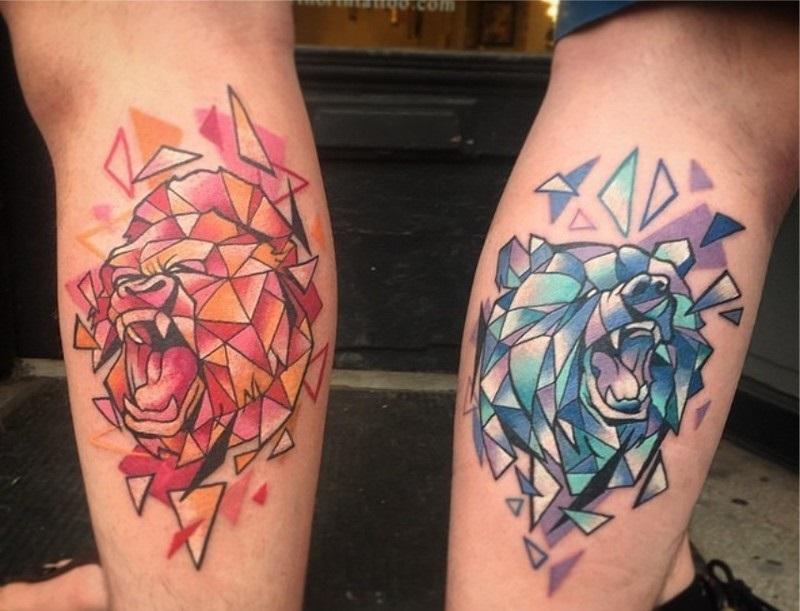 Крутые татуировки брат и сестра 007
