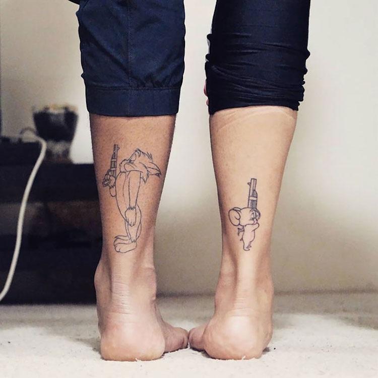Крутые татуировки брат и сестра 009