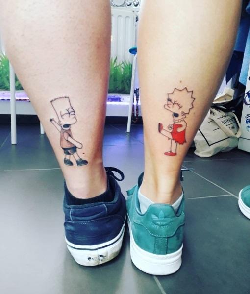 Крутые татуировки брат и сестра 015