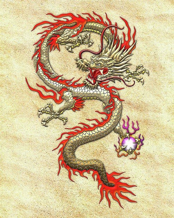 Лучшие арты китайского дракона 002