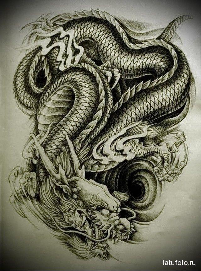 Лучшие арты китайского дракона 003