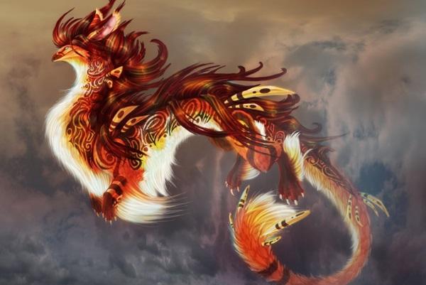 Лучшие арты китайского дракона 004