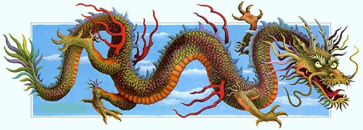Лучшие арты китайского дракона 005