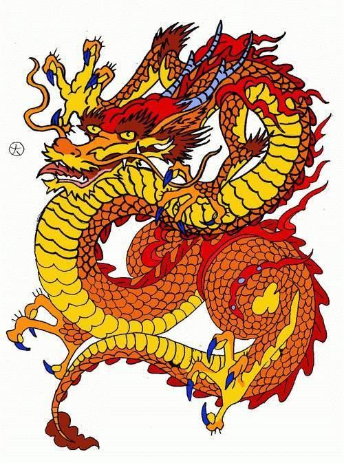 Лучшие арты китайского дракона 009