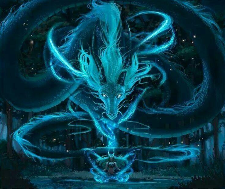 Лучшие арты китайского дракона 010