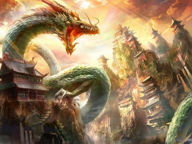 Лучшие арты китайского дракона 013