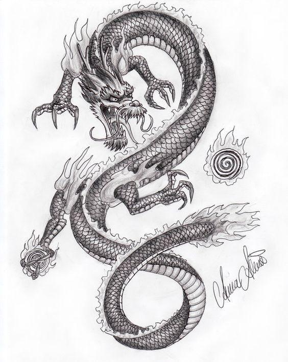 Лучшие арты китайского дракона 014