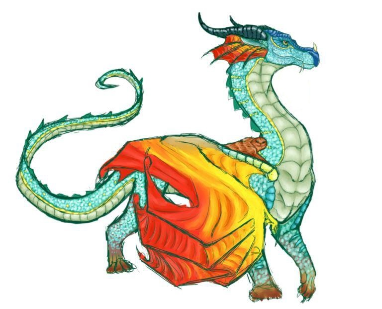 Лучшие арты китайского дракона 016