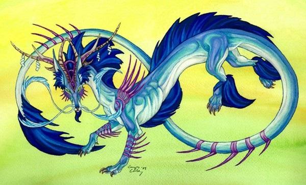 Лучшие арты китайского дракона 018