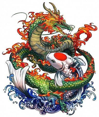 Лучшие арты китайского дракона 021