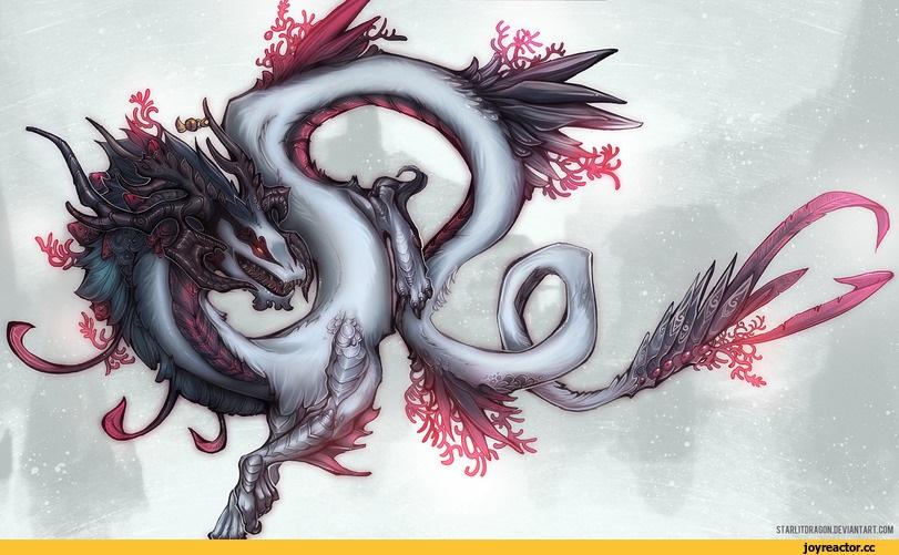 Лучшие арты китайского дракона 022