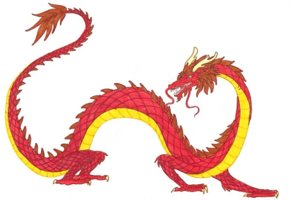 Лучшие арты китайского дракона 023
