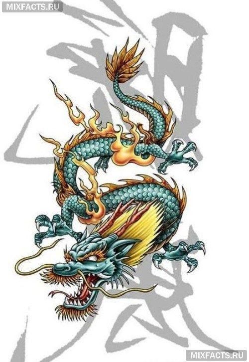 Лучшие арты китайского дракона 025