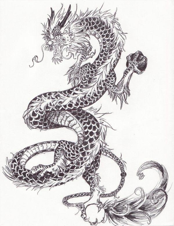 Лучшие арты китайского дракона 026