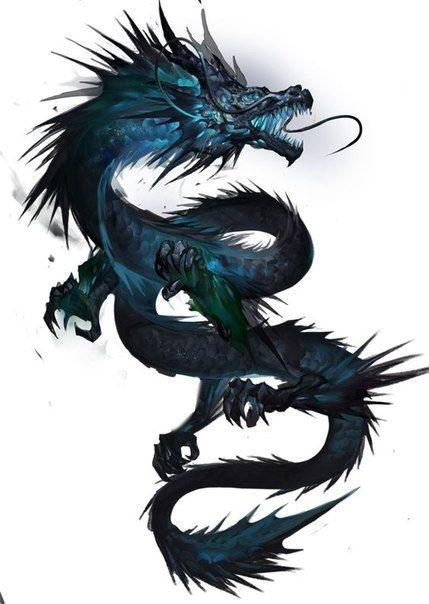 Лучшие арты китайского дракона 027