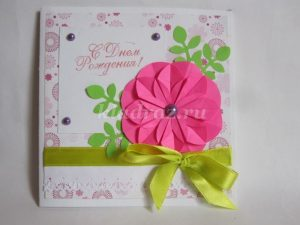 Милая открытка из конфет своими руками на день рождения 024
