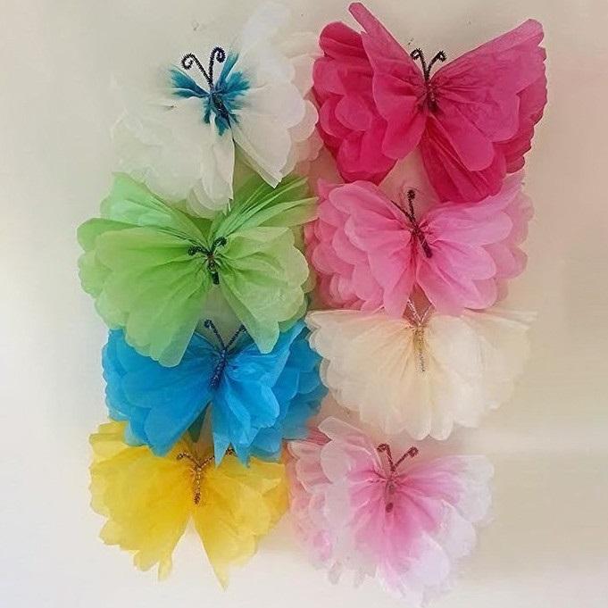 Милые картинки бабочки из перьев 007
