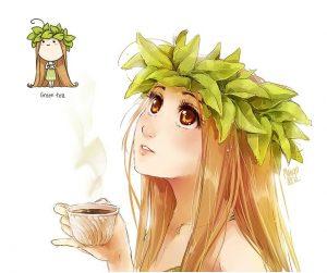 Нежные фото девушек в одеяле с чаем 015