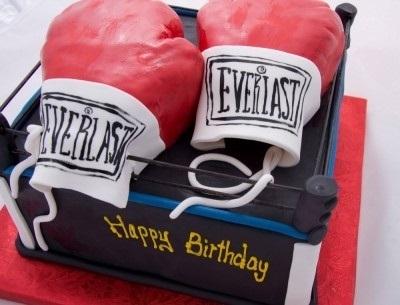Открытки боксера с днём рождения 007