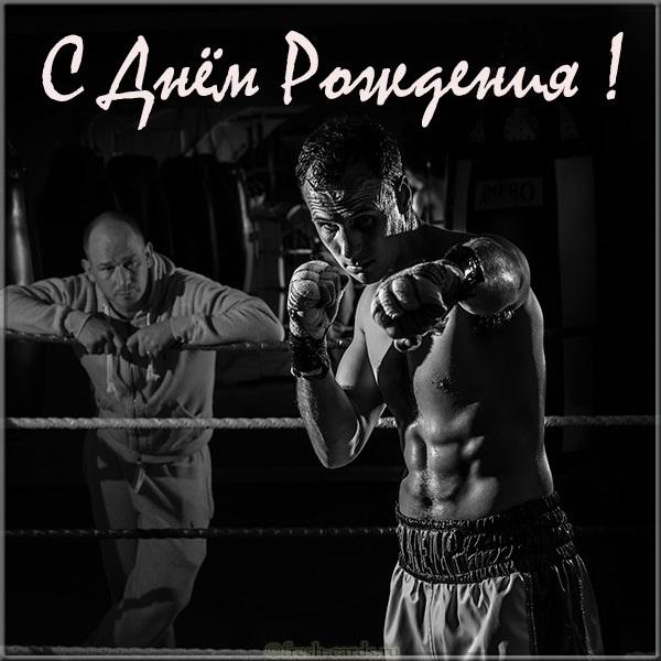 Открытки боксера с днём рождения 014