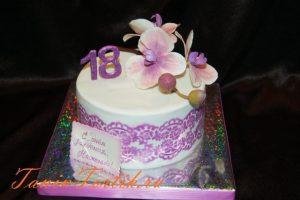 Очень красивый торт на 16 ти летие 029