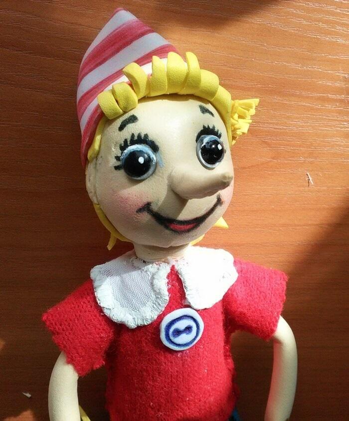 Прикольная кукла буратино сшить своими руками 001