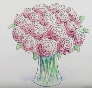 Рисунки красивый декоративный букет 013