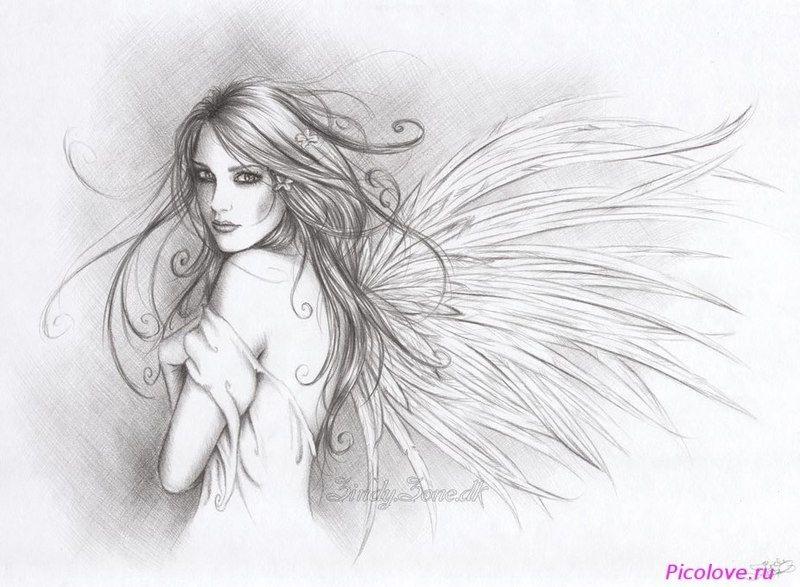 Рисунок карандашом девушка воин 005
