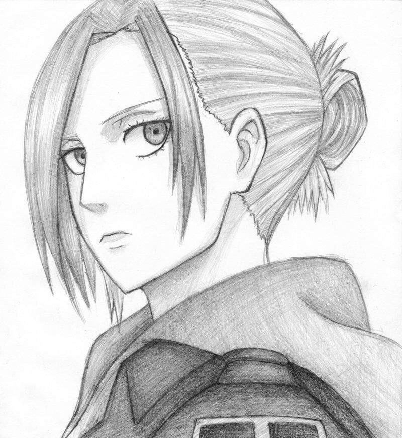 Рисунок карандашом девушка воин 016