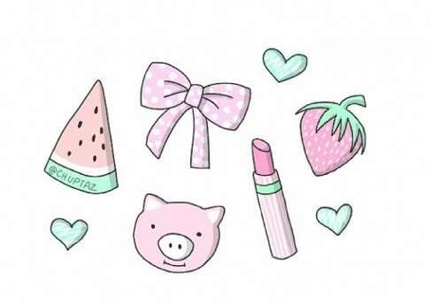Розовые рисунки для личного дневника лд 030