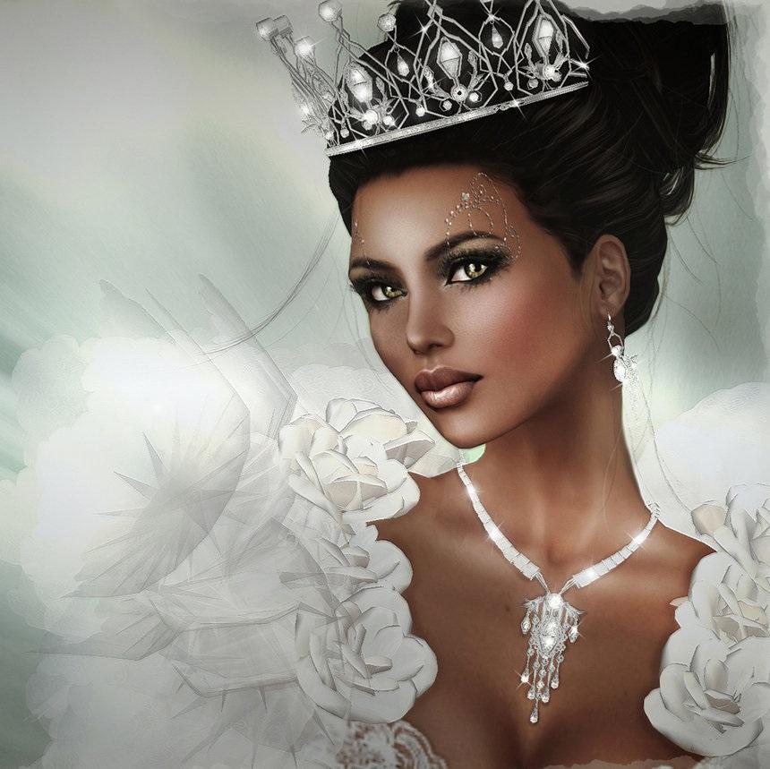 Фото девушки с короной на голове 010