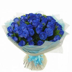 Фото синей красивой кустовой розы 021