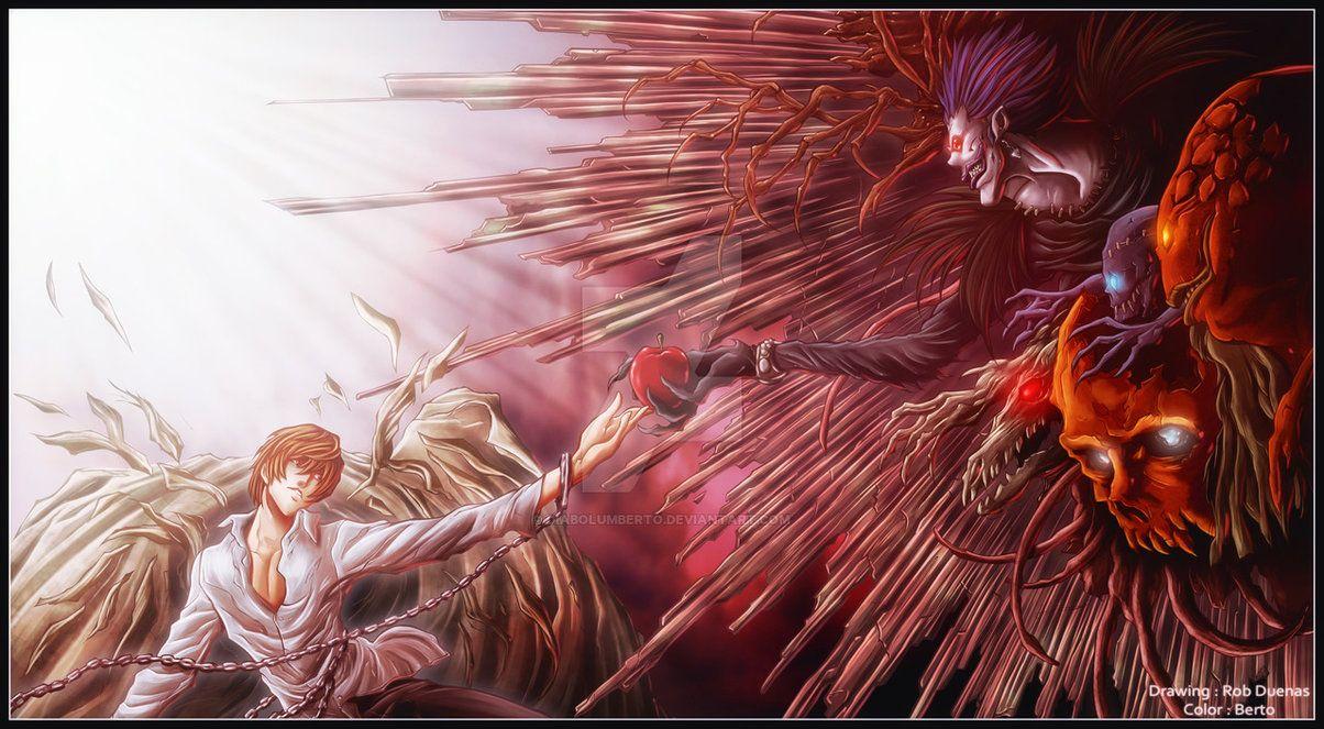 Арты с аниме тетрадь смерти 002